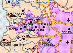 Mapa Barueri